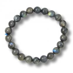 Labradorite - Bracelet boules 8 mm - Qualité A