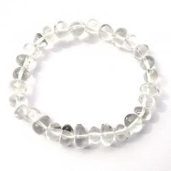Cristal de roche - Bracelet pépites 8 x 12 mm - Qualité A