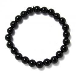 Onyx - Bracelet boules 8 mm