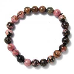 Rhodonite - Bracelet boules 8 mm