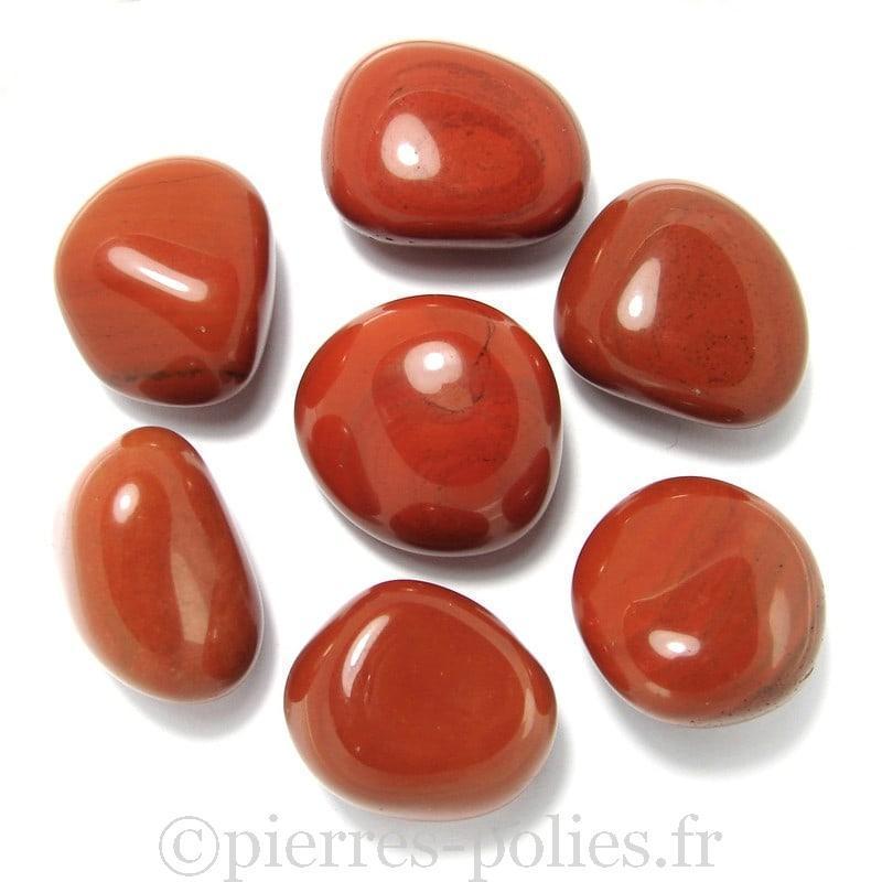 Pierres roulées en jaspe rouge d'Inde