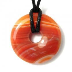 Donut en cornaline - 30 mm