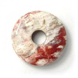 Donut en agate crazy - 30 mm