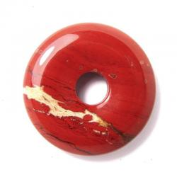 Donut en jaspe rouge - 30 mm