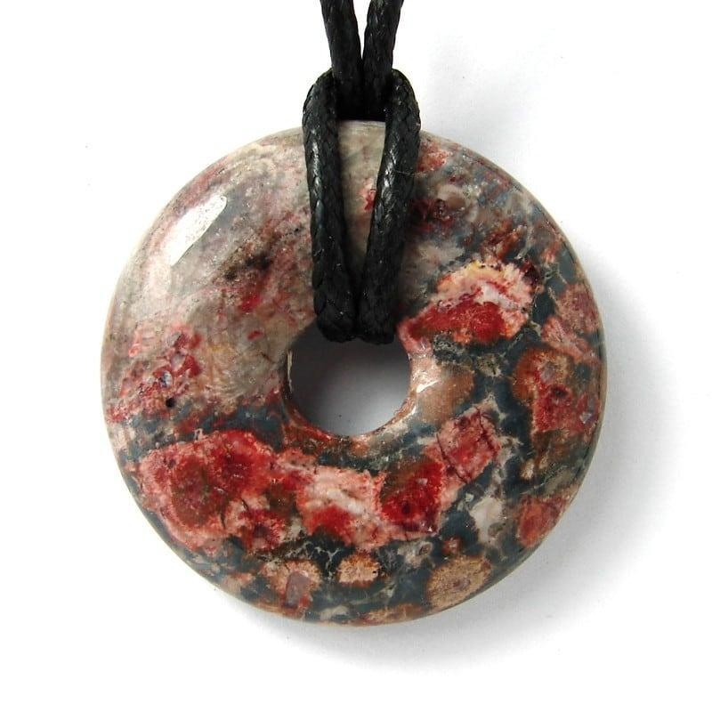 Donut en jaspe léopard - 30 mm