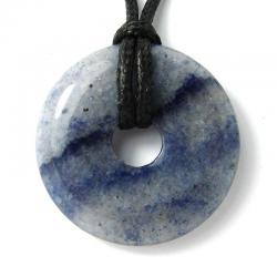 Donut en aventurine bleue - 30 mm