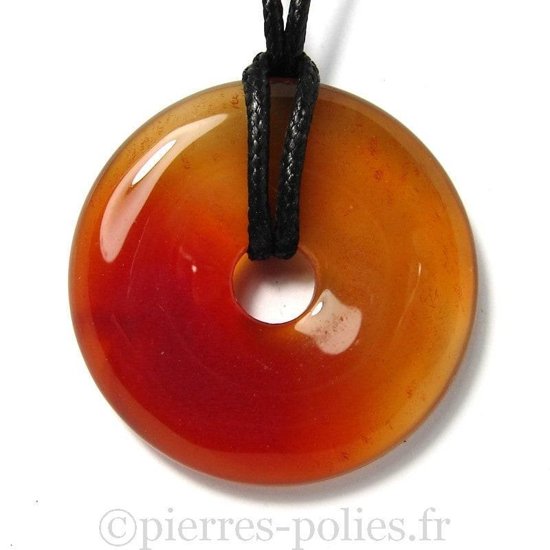 Donut en cornaline - 40 mm