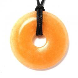 Donut en calcite orange - 40 mm