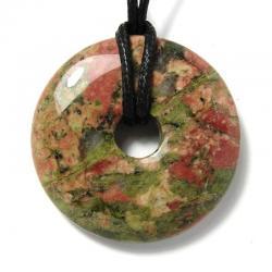 Donut en unakite - 40 mm