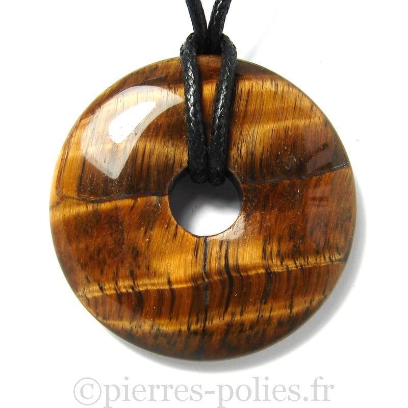 Donut en oeil de tigre - 40 mm