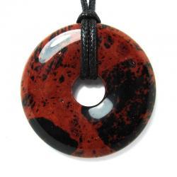 Donut en obsidienne acajou - 40 mm