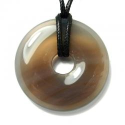 Donut en agate grise - 40 mm