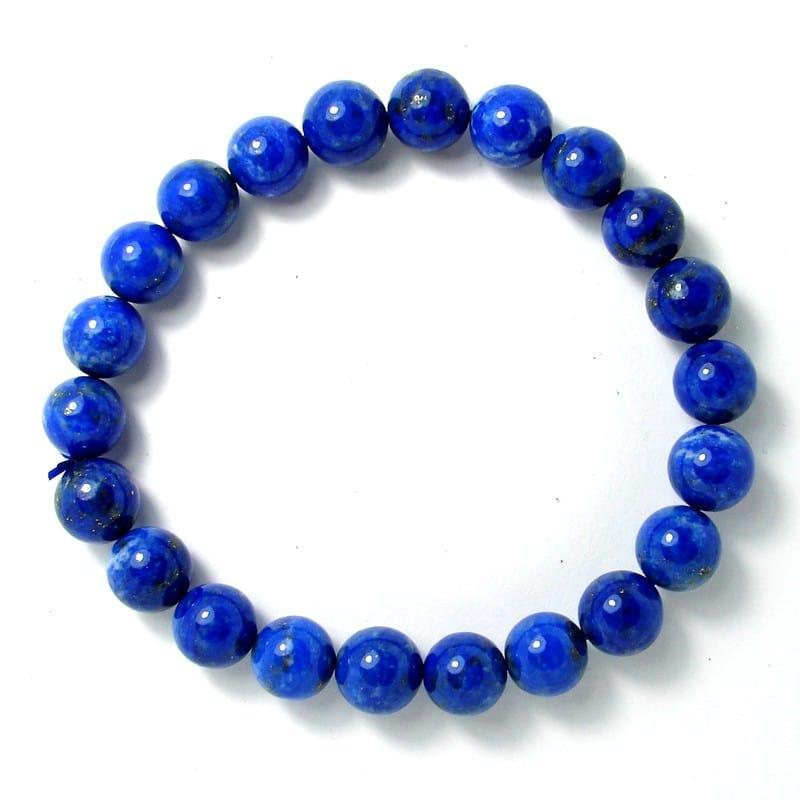 Lapis-lazuli - Bracelet boules 8 mm - Qualité AA
