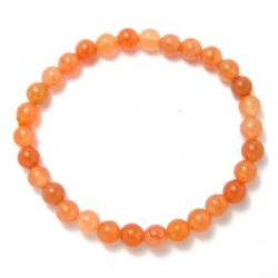 Aventurine orange - Bracelet boules 6 mm