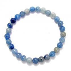 Aventurine bleue - Bracelet boules 6 mm