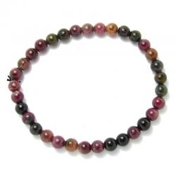 Tourmaline multicolore - Bracelet boules 6 mm
