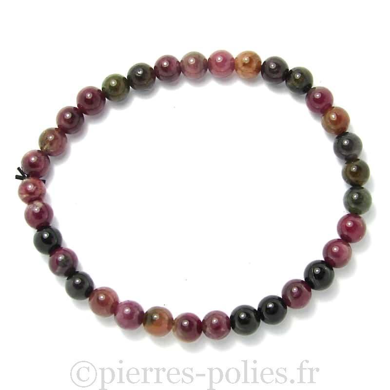 Tourmaline multicolore - Bracelet boules 6 mm