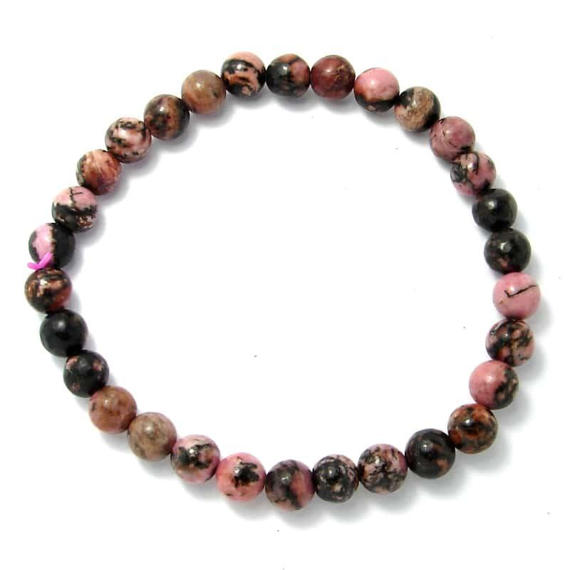 Rhodonite - Bracelet boules 6 mm