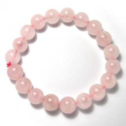 Quartz rose - Bracelet boules 10 mm