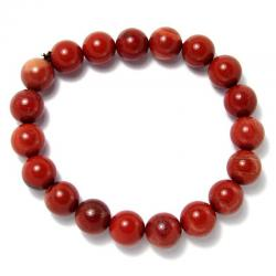 Jaspe rouge - Bracelet boules 10 mm