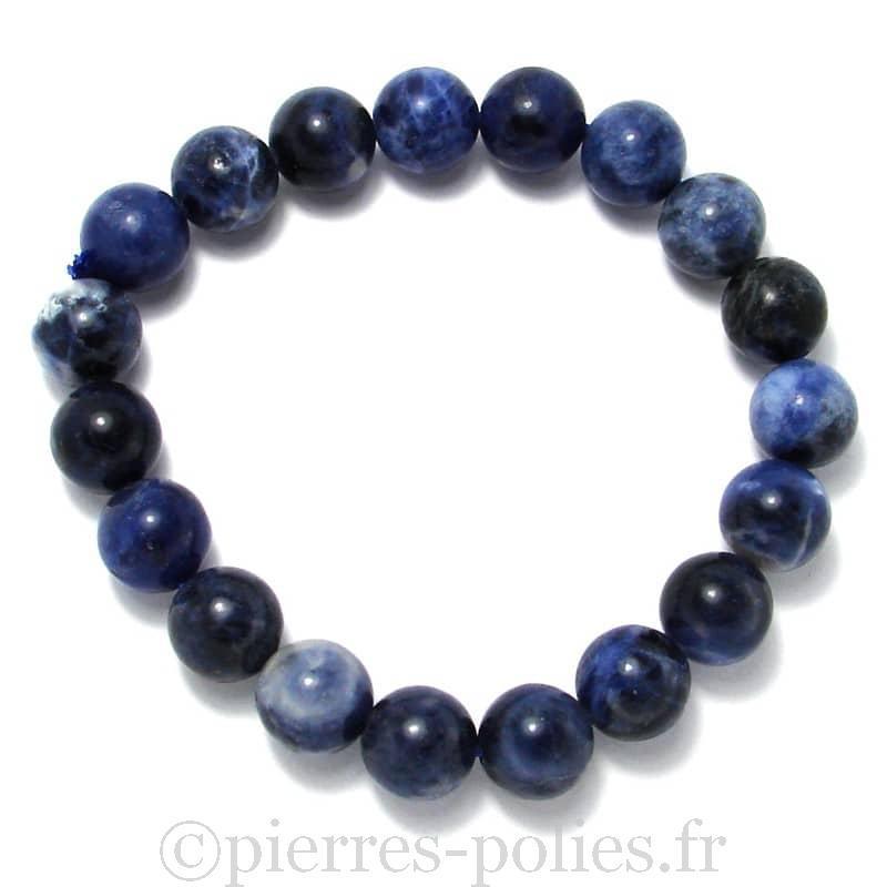 Sodalite - Bracelet boules 10 mm