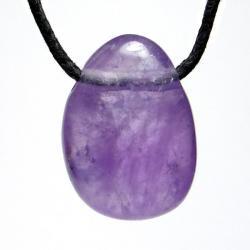 Améthyste - Pendentif pierre roulée percée