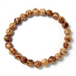 Aragonite feuilletée - Bracelet boules 8 mm