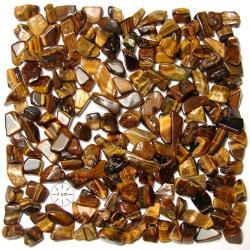 Gravier d'oeil de tigre 8-12 mm - 100 grammes