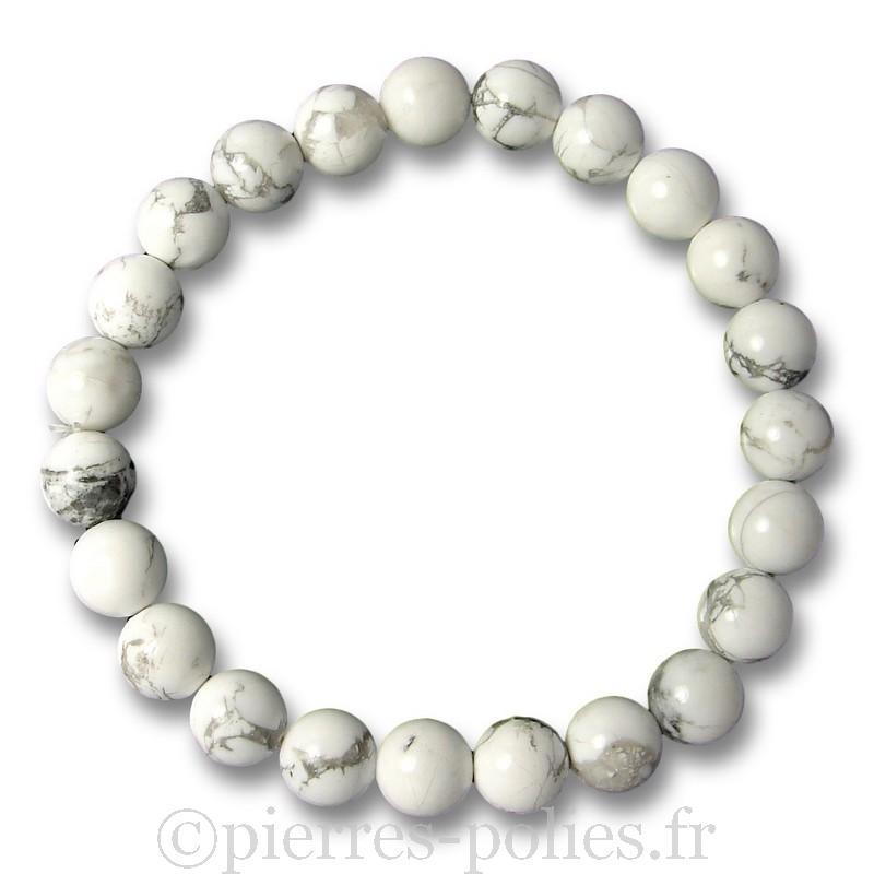 Bracelet boules 8 mm - Magnésite