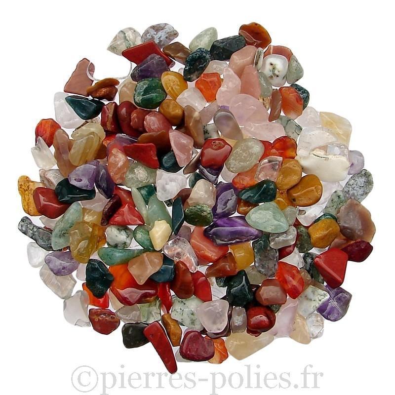 Gravier de minéraux d'Inde. Calibre 7-12 mm