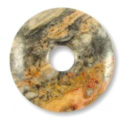 Donut en agate crazy - 40 mm