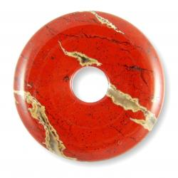 Donut en jaspe rouge - 40 mm