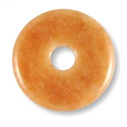 Donut en aventurine orange - 40 mm