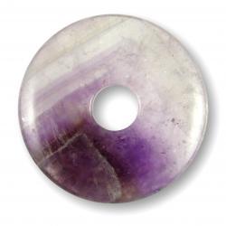Donut en améthyste chevron - 40 mm