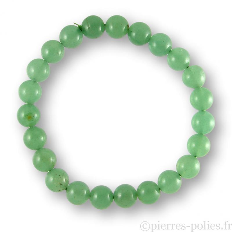 Bracelet boules 8 mm - Aventurine verte du Brésil