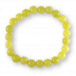 Bracelet boules 8 mm - Serpentine jaune