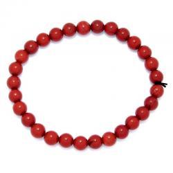 Bracelet boules 6 mm - Jaspe rouge