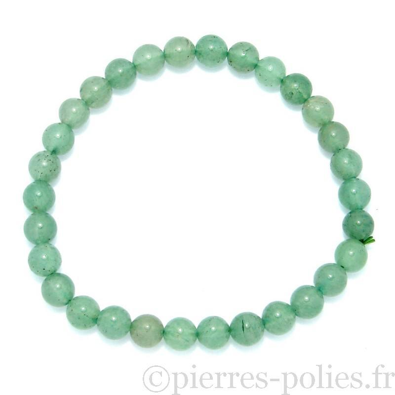 Bracelet boules 6 mm - Aventurine verte du Brésil