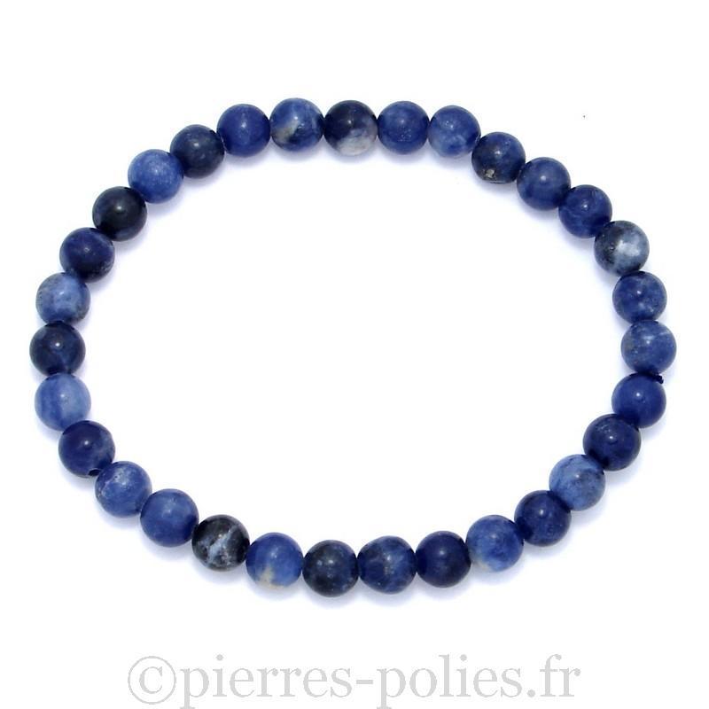Bracelet boules 6 mm - Sodalite