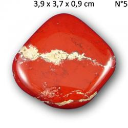 Pierres plates en Jaspe rouge tectonique d'Afrique du sud