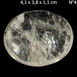 Pierres plates en cristal de roche du Brésil