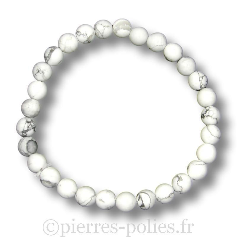 Bracelet boules 6 mm - Magnésite