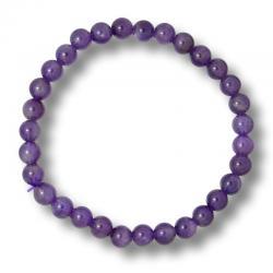 Bracelet boules 6 mm - Améthyste A