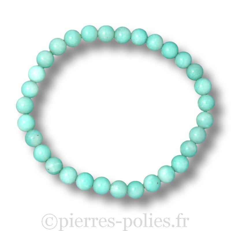Amazonite - Bracelet boules 6 mm - Qualité A