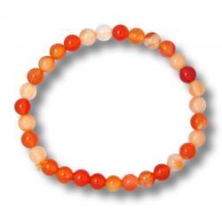 Bracelet boules 6 mm - Cornaline d'Inde