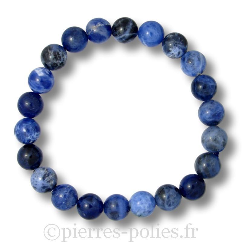 Sodalite - Bracelet boules 8 mm - Qualité A