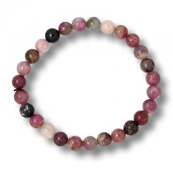 Tourmaline multicolore - Bracelet boules 7 mm